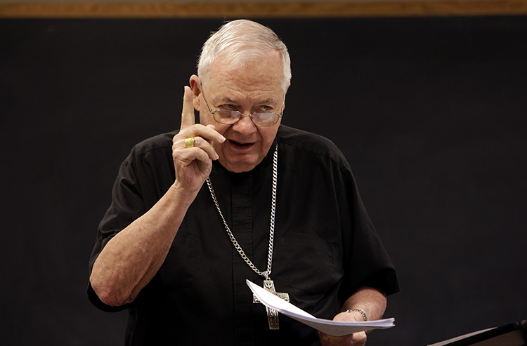 Archbishop Keleher now teaches a course on the documents of the Second Vatican Council, a class he first taught at Mundelein in the 1970s.
