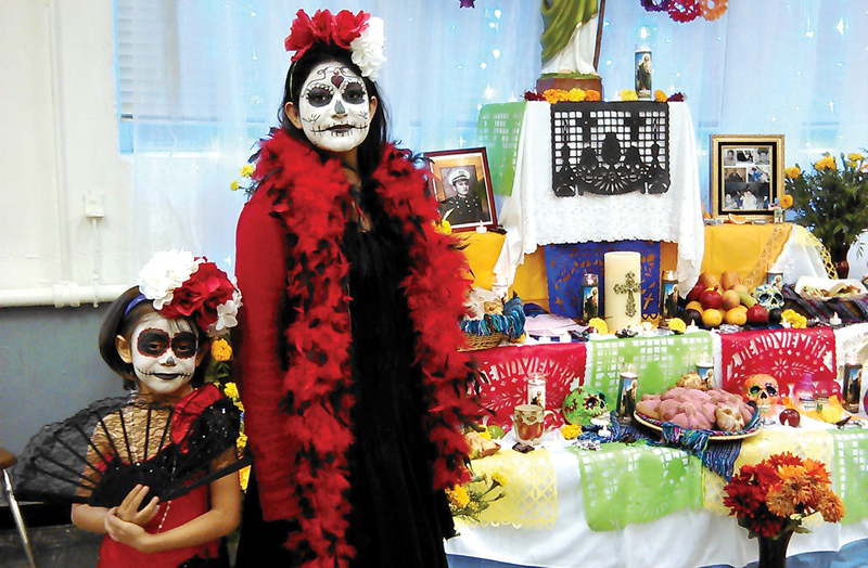 "Mexican artist José Guadalupe Posada is responsible for the familiar ""La Catrina"" figures (portrayed here by sisters Jocelyn and Naomi Ubanda) often associated with the holiday, and his striking image is still part of modern Day of the Dead observances."