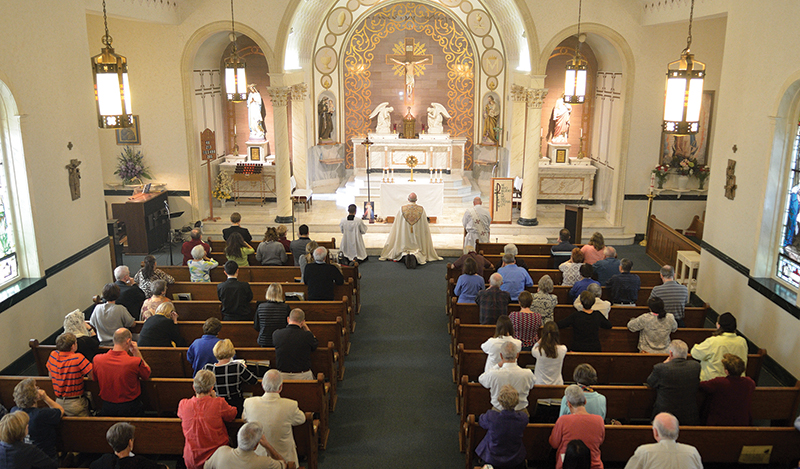 Archbishop Joseph F. Naumann and Holy Trinity Parish in Lenexa celebrate 25 years of adoration on Sept. 14 by returning to the old stone chapel where it all began.