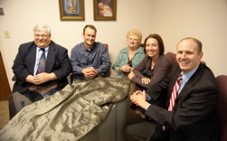 The family life office is staffed by: Deacon Tony Zimmerman (left), lead consultant; Sam Meier, consultant for the My House Freedom from Pornography Initiative; Mary Anne Kierl, administrative assistant; and Libby and Brad DuPont, consultants. By Joe Bollig.
