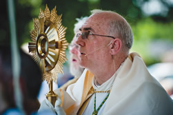 Mark your calendar for the annual Corpus Christi procession June 10 at the Cathedral of the Immaculate Conception, 416 W. 12th St., Kansas City, Mo. The schedule for the day is: 11 a.m. – Solemn Pontifical Mass 12:15 p.m. – Solemn Exposition of the Blessed Sacrament 1:15 p.m. – Homily delivered by Archbishop Joseph F. Naumann. 1:30 p.m. – Procession from the Cathedral to the Catholic Center, 20 W. 9th St. (approximately  mile). Benediction will be celebrated at the Chapel of Our Lady of Ephesus at the Catholic Center. A reception will follow.