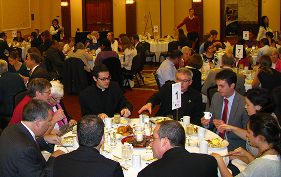 PHOTO COURTESY OF FOCUS The Fellowship of Catholic University Students drew a large crowd at its new evangelization prayer breakfast in Washington, D.C. A similar event will be held in this area on Feb. 15 at the Downtown Crowne Plaza in Kansas City, Mo.