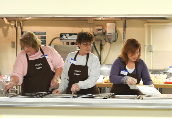 "The initial call for volunteers to help at Elijah's Supper, a free community meals ministry of Immaculate Conception-St. Joseph Parish in Leavenworth, brought an enthusiastic response — more volunteers than they could use. Jerry Frietchen calls this the ""healthy problem"" of Elijah's Supper."