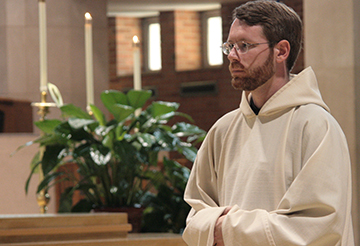 Brother Jeremy Heppler was ordained to the diaconate May 30 at St. Benedict's Abbey in Atchison. He will seek ordination to the priesthood next year.