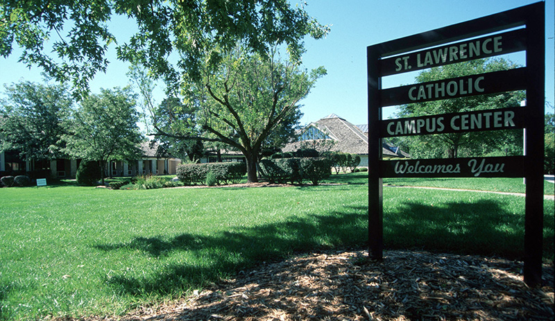 The St. Lawrence Catholic Campus Center at the University of Kansas in Lawrence works to keep young people involved in the faith as they leave their home for the first time.