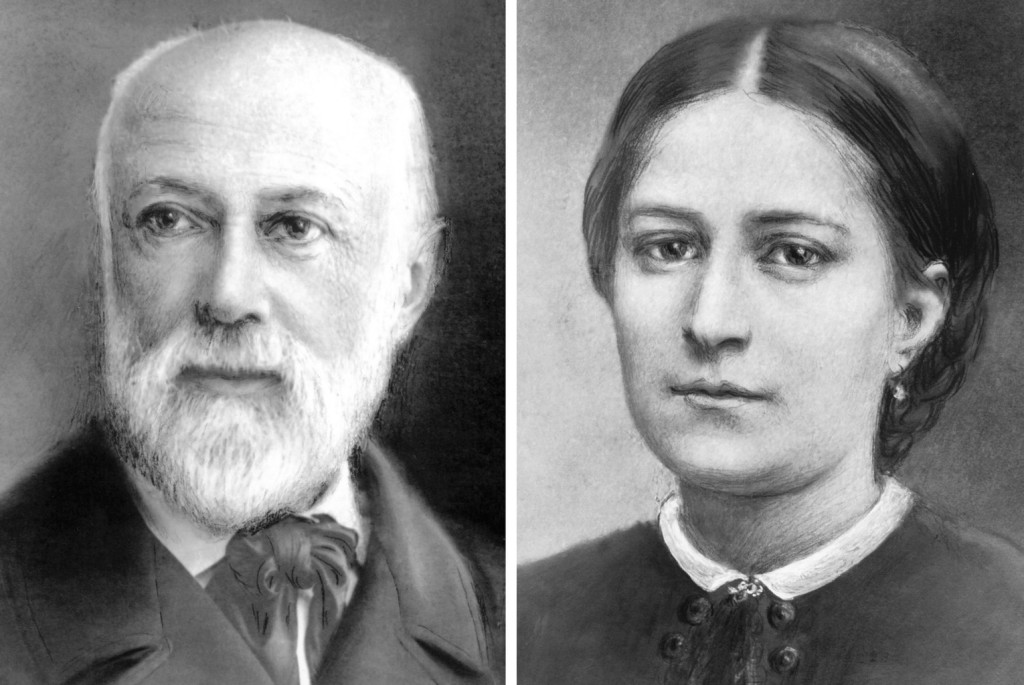 Blesseds Louis and Marie Zelie Guerin Martin, the parents of St. Therese of Lisieux, are pictured in a combination photo created from images provided by the Sanctuary of Lisieux in France. The couple will be canonized at the Vatican Oct. 18, during the Synod of Bishops on the family. (CNS photo/courtesy of Sanctuary of Lisieux)