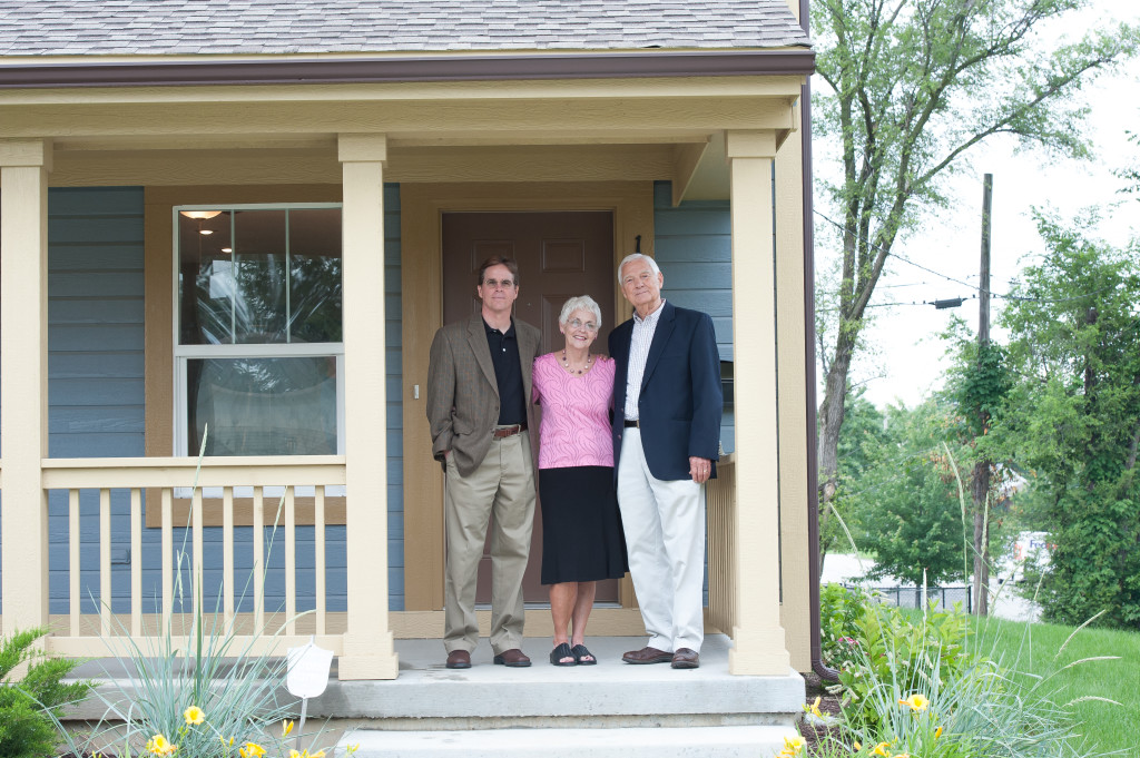 "Tom Bickimer (left), a member of Holy Spirit Parish in Overland Park, Susan Carroll, a member of the Cathedral of St. Peter in Kansas City, Kansas, and James Owens, a member of St. Agnes Parish in Roeland Park, were all honored June 20 with the ""Continue the Legacy Award"" for their tireless support of Community Housing of Wyandotte County. By Jessica Langdon"