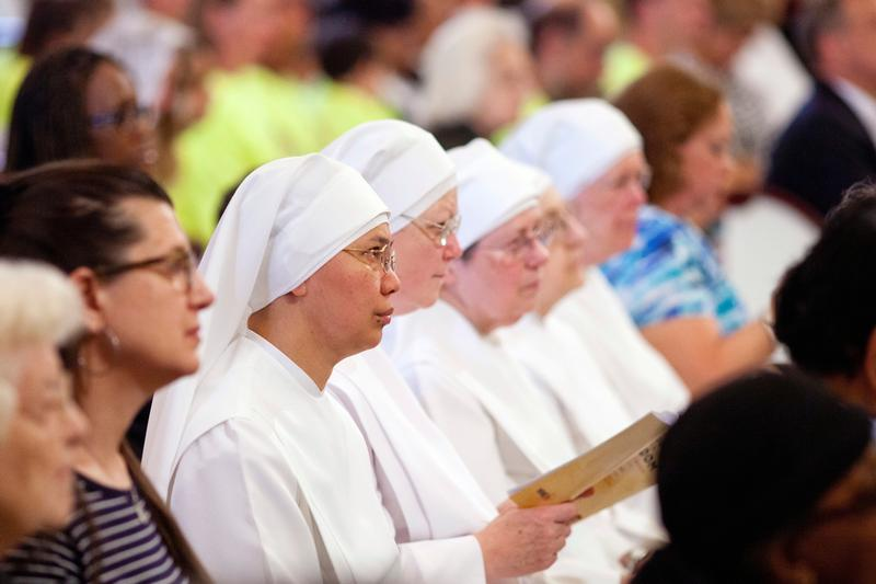 Members of the Little Sisters of the Poor attend the 2014 celebration of the third annual Fortnight for Freedom Mass at the Basilica of the National Shrine of the Assumption of the Blessed Virgin Mary in Baltimore. (CNS photo/Tom McCarthy Jr., Catholic Review)