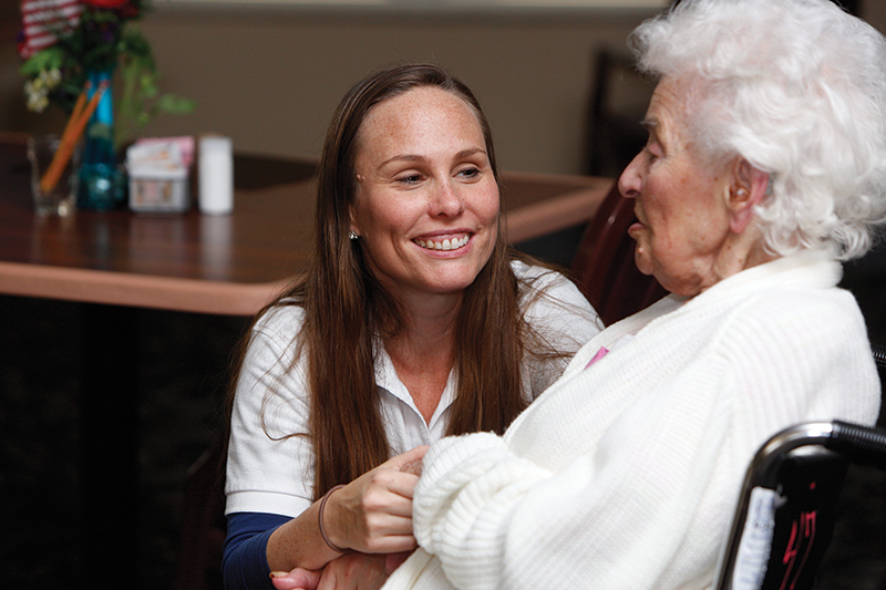 """Villa St. Francis in Olathe is a skilled-nursing facility that offers high quality medical care while promoting the """"Gospel of Life"""" by serving seniors with love, compassion and respect."""