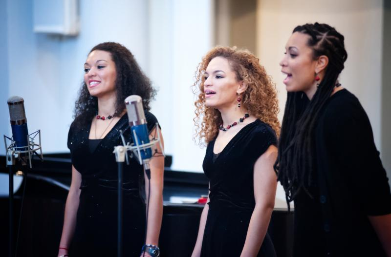 """A biracial group of singers performs March 3 during the """"Black & White in America: How Deep the Divide?"""" conference at Samford University in Birmingham, Ala. (CNS photo/Mary D. Dillard, One Voice)"""