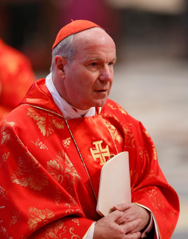 "Austrian Cardinal Christoph Schonborn is pictured in a 2013 photo. By sending his son into the world to suffer and die, God used an ""excess of mercy"" to vanquish human beings' lack of mercy, Cardinal Schonborn said at the opening of the European gathering of the World Apostolic Congress of Mercy March 31 in Rome. (CNS photo/Paul Haring)"