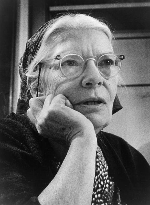 Dorothy Day, co-founder of the Catholic Worker Movement, is pictured in an undated photo. Cardinal Timothy M. Dolan of New York has opened the canonical inquiry on the life of the social justice advocate, the archdiocese announced April 19. (CNS photo/courtesy Milwaukee Journal)