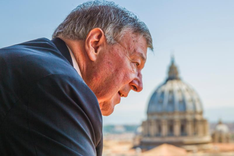 Australian Cardinal George Pell, prefect of the Vatican Secretariat for the Economy, is pictured at the Vatican in this Aug. 5, 2014, file photo. Cardinal Pell said that lay people are called to be a bridge between the church and the world, particularly in matters of finance. (CNS photo/Robert Duncan)